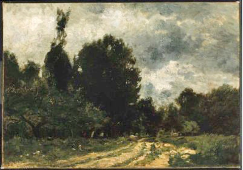 Road through the Forest. Charles Francois Daubigny.