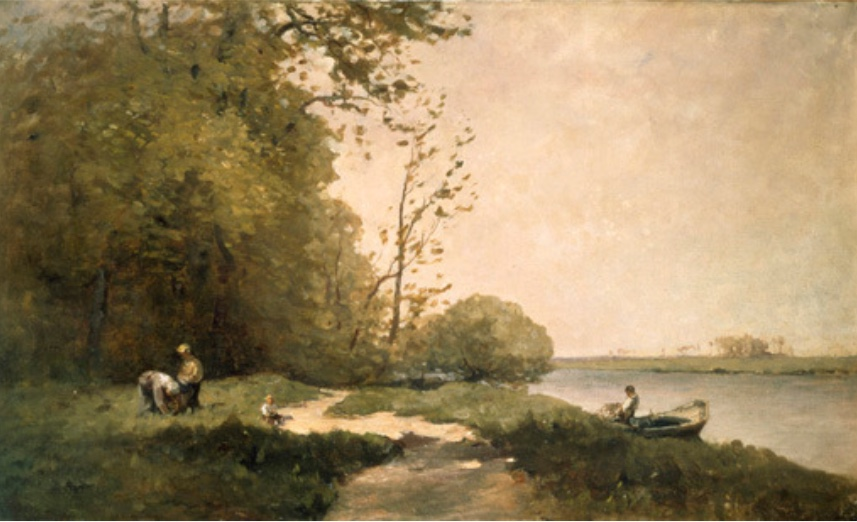 On the Banks of the Seine, Nathaniel Hone the Younger.