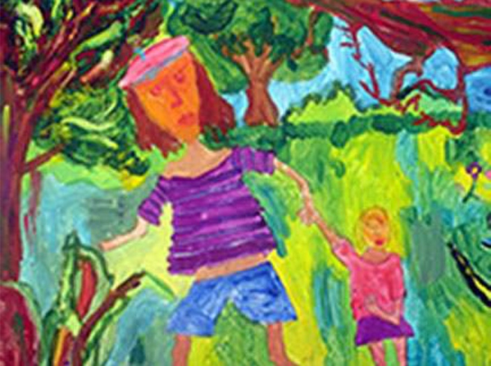 A walk in the Woods (girl, sixth class)